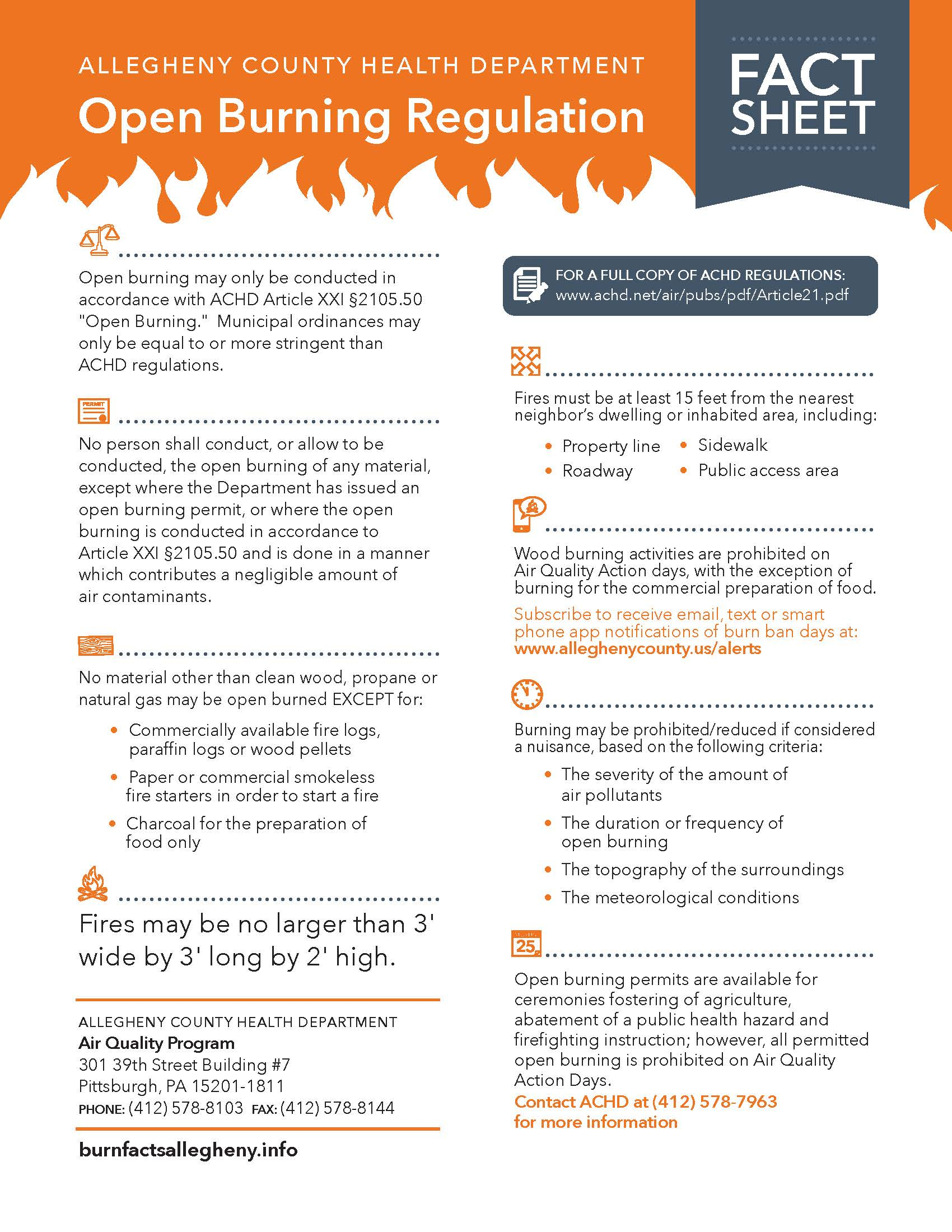 Open Burning Fact Sheet