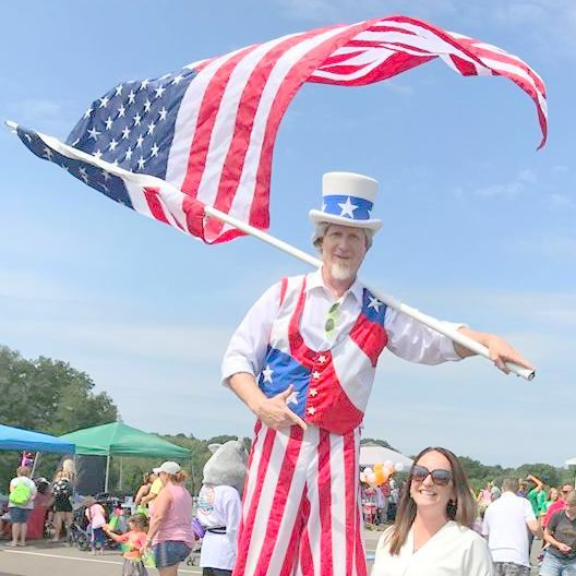 Uncle Sam on Stilts