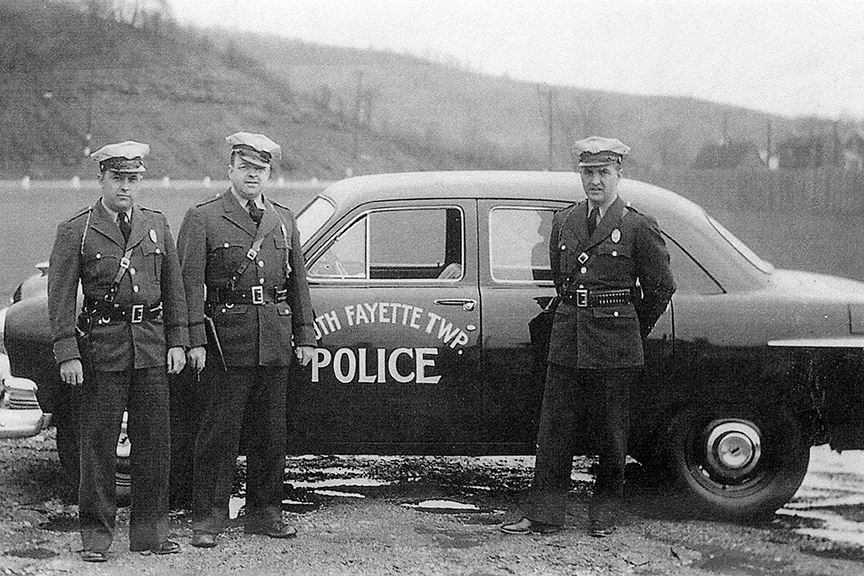 First South Fayette Police Department offiers and car, 1951