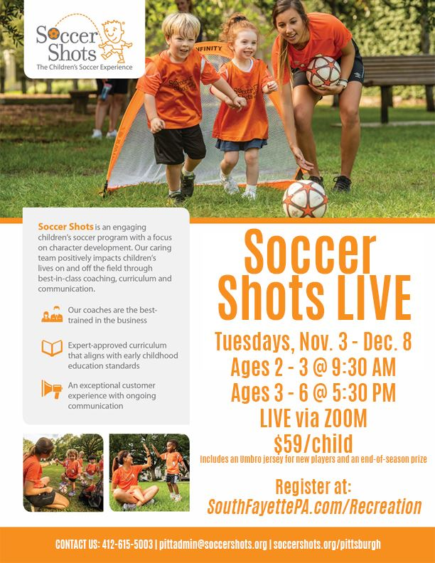 Fall Soccer Shots Flyer 2020